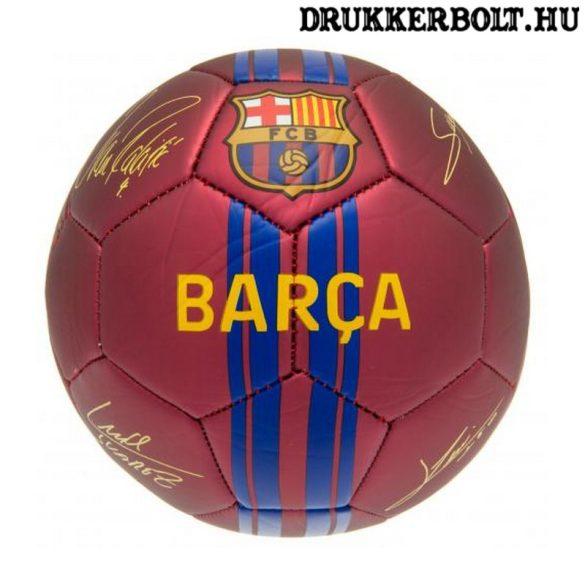 """FC Barcelona """"Signature"""" labda - normál (5-ös méretű) Barca címeres focilabda a csapat tagjainak aláírásával"""
