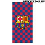 FC Barcelona kockás törölköző - liszenszelt klubtermék