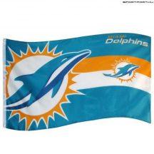 Miami Dolphins zászló - NFL zászló (eredeti, hologramos klubtermék)