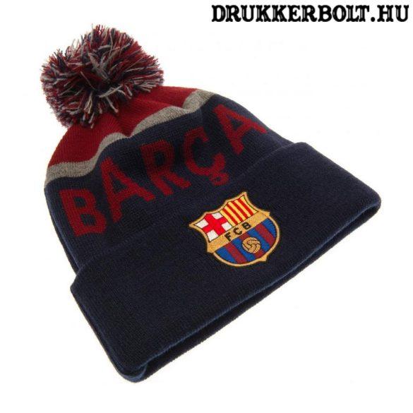 FC Barcelona sísapka - Barcelona szurkolói kötött sapka (FCB bojtos sapka)