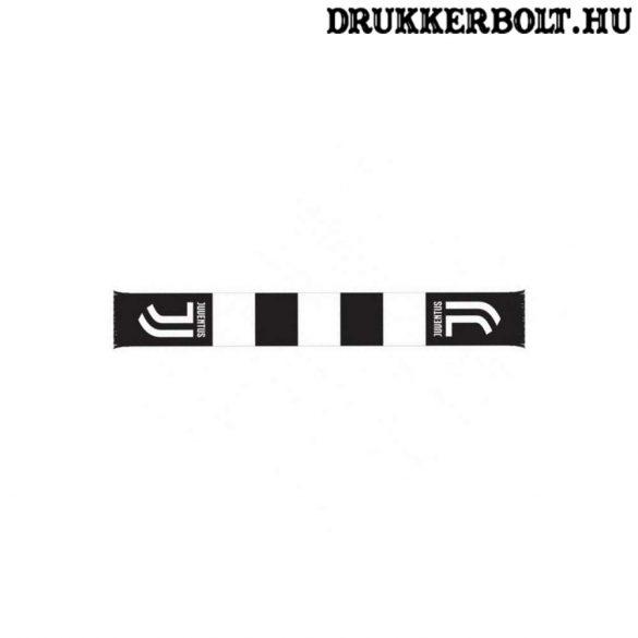Juventus sál - fekete-fehér csíkos, kötött szurkolói Juve sál