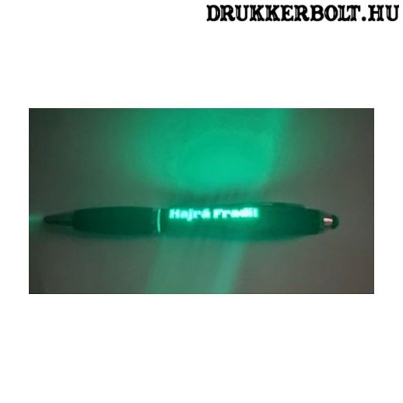 Fradi érintőképernyős toll - Ferencváros toll zöld LED világítással (FTC)