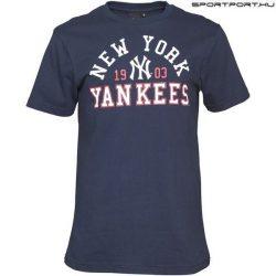 Majestic MLB New York Yankees hivatalos póló - eredeti MLB klubtermék (kék)