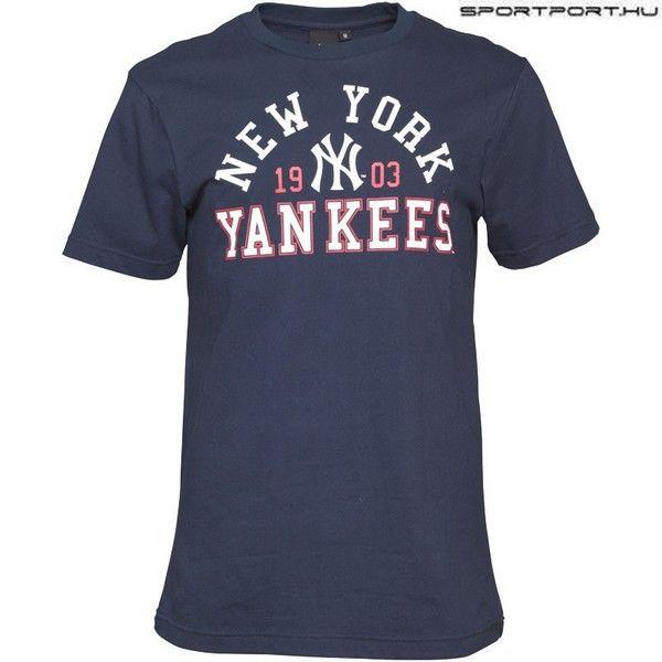 Majestic MLB New York Yankees hivatalos póló - eredeti MLB klubtermék (kék) 07ccfebe8c