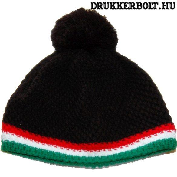 Magyarország bojtos kötött sapka - hivatalos szurkolói termék (fekete)