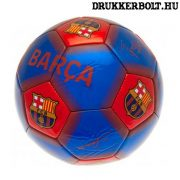 """FC Barcelona labda """"Signature"""" (kék) - normál (5-ös méretű) Barca focilabda a csapat tagjainak aláírásával"""