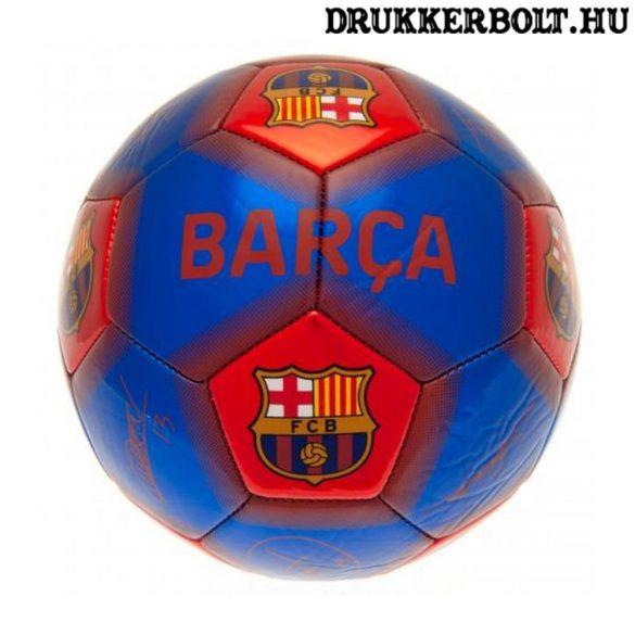 FC Barcelona labda (ezüst) - normál (5-ös méretű) Barca focilabda a csapat tagjainak aláírásával