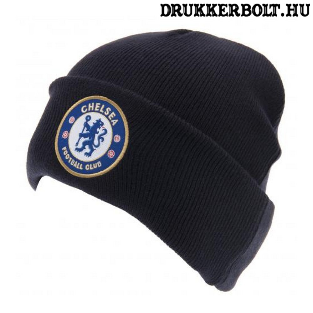 Chelsea FC sapka - sötétkék kötött sapka Chelsea logóval ... 9ca08896a2