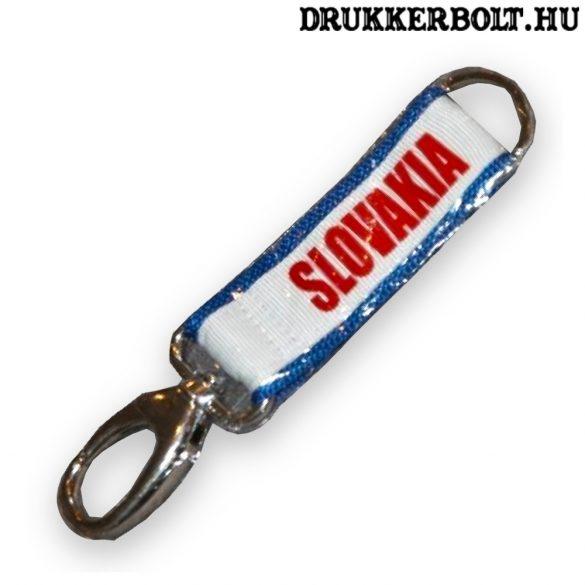 Szlovák kulcstartó / karabíner Slovakia felirattal