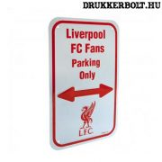 Liverpool FC szurkolói parkoló tábla - eredeti, hivatalos klubtermék
