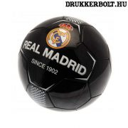 Real Madrid labda - fekete normál (5-ös méretű) Real Madrid címeres focilabda