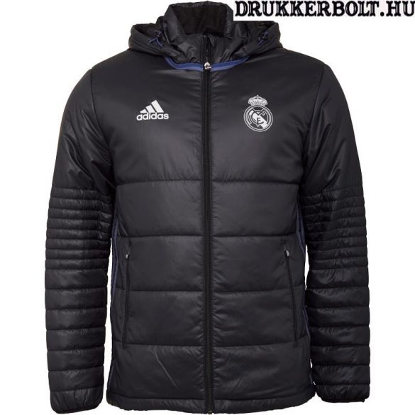 Adidas Real Madrid kabát / dzseki - eredeti Real Madrid menedzseri kabát (fekete)