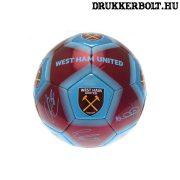 """West Ham United """"Signature"""" labda - normál (5-ös méretű) Hammers focilabda a csapat tagjainak aláírásával"""