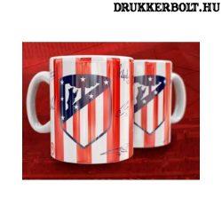 Atletico Madrid bögre - Atletico bögre címerrel és aláírásokkal