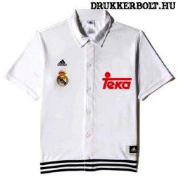 Adidas Real Madrid mez / póló (fehér, galléros)  - eredeti Real Madrid szurkolói mez
