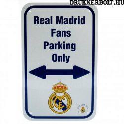 Real Madrid szurkolói parkoló tábla - eredeti, hivatalos klubtermék