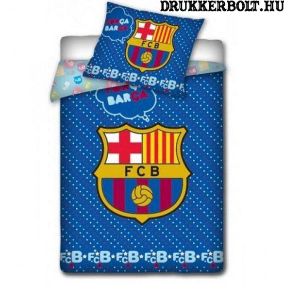 FC Barcelona gyerek ágynemű garnitúra / szett - hivatalos, liszenszelt ajándéktárgy (kétoldalas, pamut)
