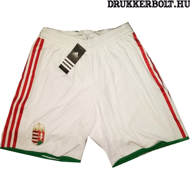 Adidas Magyar válogatott short   sort (fehér) - hivatalos idegenbeli short e2f8c4632f