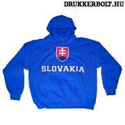 Slovakia feliratos kapucnis pulóver (kék) - Szlovák válogatott pulcsi