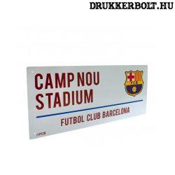 FC Barcelona utcanévtábla - eredeti, hivatalos klubtermék