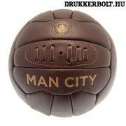Manchester City retro bőrlabda - eredeti gyűjtői termék!