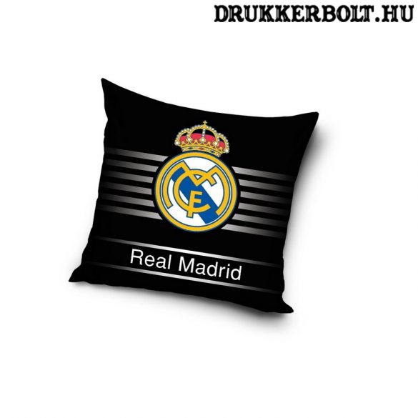 Real Madrid kispárna - eredeti, hivatalos ajándéktárgy! (fekete)