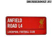 Liverpool utcanévtábla - eredeti Liverpool fém  tábla