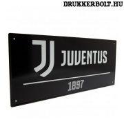 Juventus utca tábla (fekete) - eredeti, hivatalos klubtermék