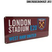 West Ham United tábla - eredeti Hammers utcatábla