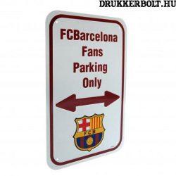 FC Barcelona szurkolói parkoló tábla - eredeti, hivatalos klubtermék