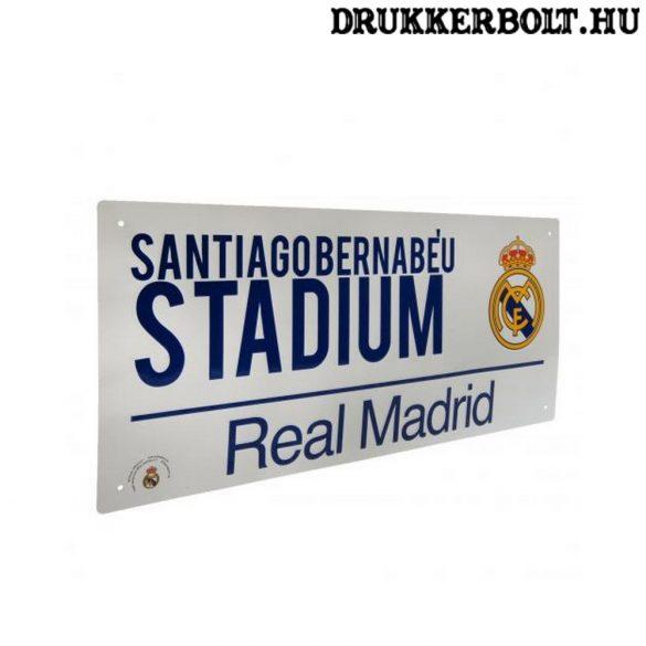 Real Madrid utca tábla (fehér) - eredeti, hivatalos klubtermék