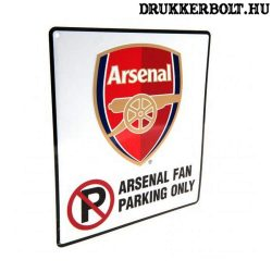Arsenal FC parkoló tábla - eredeti, szurkolói Arsenal tábla