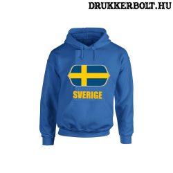 Sverige feliratos kapucnis pulóver (kék) - svéd válogatott szurkolói pullover / pulcsi