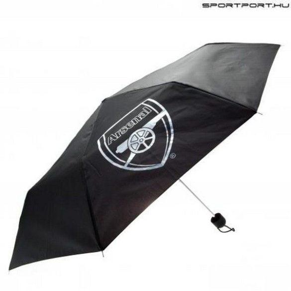 Arsenal FC fekete esernyő klubcímerrel - hivatalos szurkolói termék