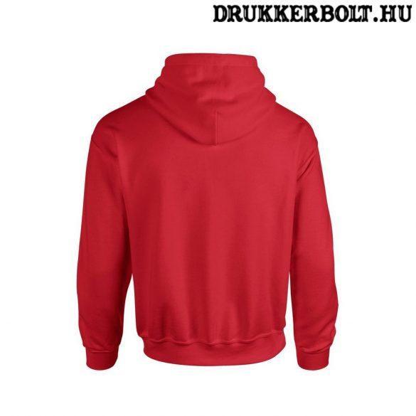 Polska feliratos kapucnis pulóver (piros) - lengyel válogatott szurkolói pullover / pulcsi