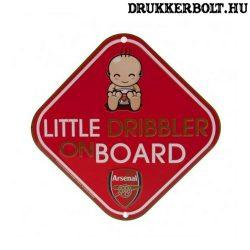 """Arsenal autós tábla """"kis cselgép a fedélzeten"""" - Arsenal szurkolói ablaktábla"""