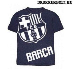 Fc Barcelona rövidujjú póló - Barca póló gyerek méretekben (szürke)