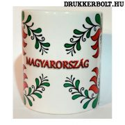 Magyarország bögre (virágos)