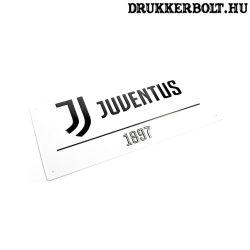 Juventus utca tábla (fehér) - eredeti, hivatalos klubtermék