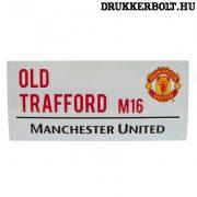 Manchester United tábla - eredeti Red Devils utcatábla