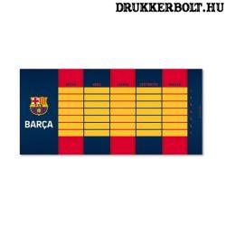 FC Barcelona órarend (kétoldalas)