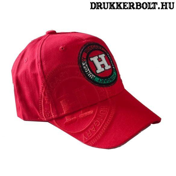 Magyarország Baseball sapka - magyar válogatott baseballsapka Hungary felirattal (piros)