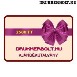 Drukkerbolt.hu ajándékutalvány 2500 Ft.
