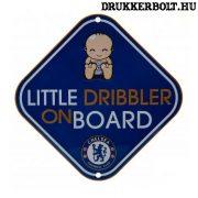 """Chelsea autós tábla """"kis cselgép a fedélzeten"""" - Chelsea szurkolói ablaktábla"""
