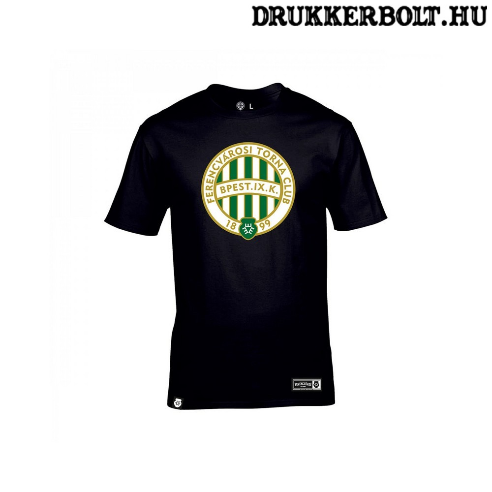 Ferencváros póló - Fradi címeres fekete szurkolói póló (pamut ... 647d4a4623