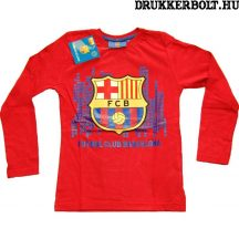 Fc Barcelona gyerek póló - eredeti, hivatalos klubtermék (hosszúujjú, több színben)