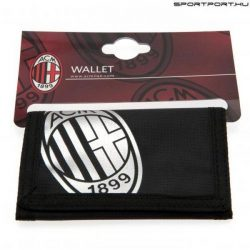AC Milan pénztárca - hivatalos klubtermék (fekete-ezüst)