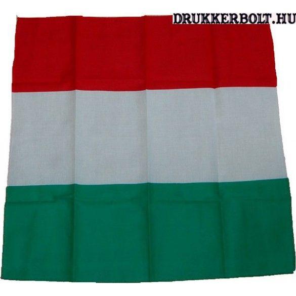 Magyarország kendő - 55x55 cm-es nemzeti színű fejkendő