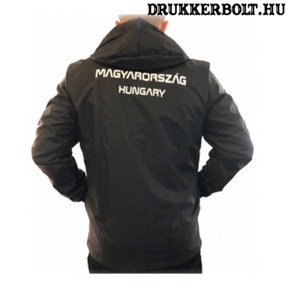 Adidas Hungary / Magyarország esőkabát - magyar válogatott széldzseki (fekete színben)