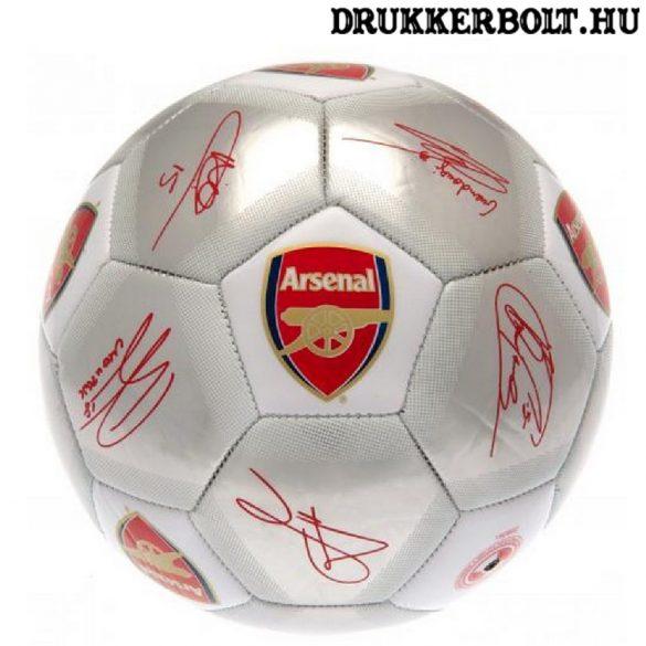 """Arsenal FC labda  """"Silver Signature"""" - normál (5-ös méretű) Arsenal címeres focilabda a csapat tagjainak aláírásával"""